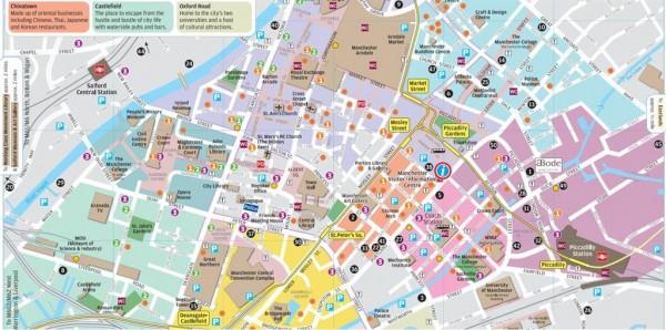 Zone di Manchester, Quartieri di Manchester